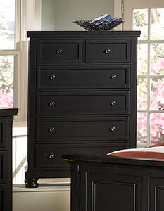 Reflections Five Drawer Chest (Ebony Finish) - [534-115]