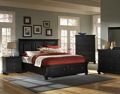 Reflections Mansion Storage Bed (Ebony Finish)