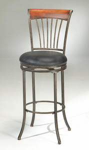 Riley Counter Stool (Black Gold & Brown Cherry Finish) - [4995-826]