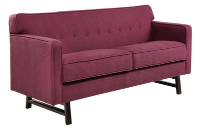 Roger Loveseat (Claret Purple Fabric) - [LC10042CL]