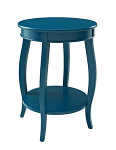 Round Shelf Table (Teal) - [287-350]