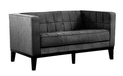 Roxbury Tufted Loveseat (Charcoal) - [LC10102CH]