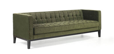 Roxbury Tufted Sofa (Green) - [LC10103GR]