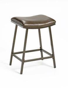 Saddle Nested Leg Barstool (Brown Copper with Vinyl Finish) - [63725]