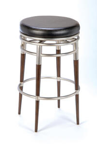 Salem Bar Stool (Brushed Chrome Finish) - [4688-831]