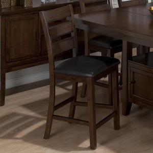 Taylor Brown Cherry Triple Slat Counter Height Stool - Set of 2 - [337-BS923KD]