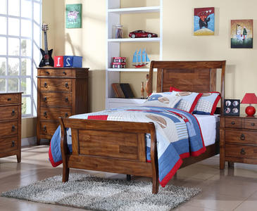 Tucson Bed (Chestnut Finish) - [TS555TB]