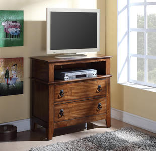 Tucson Media Cabinet (Chestnut Finish) - [TS555TV]