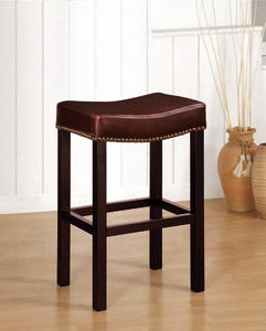 Tudor Backless Barstool (Antique Brown Leather) - [LCMBS013BABC30]