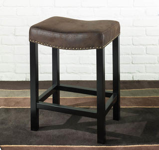 Tudor Backless Barstool (Brown) - [LCMBS013BAWR30]