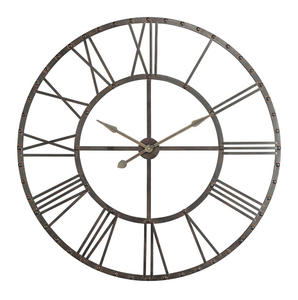 Upton Clock (Aged Steel with Black Highlights) - 45 x 45 - [40229]