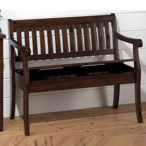 Urban Lodge Brown Storage Bench - [730-14]