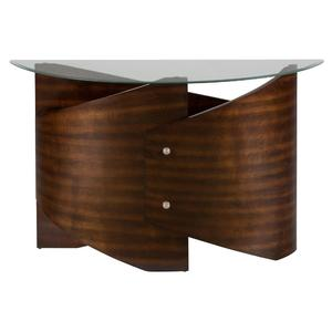 Waterville Walnut Glass Top Sofa Table - [956-4B+956-4G]