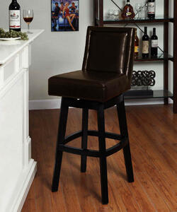 Wayne Swivel Barstool (Brown) - [LC4048BABR30]