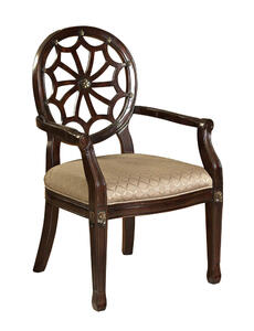 Web Back Accent Chair (Medium Mahogany) - [235-620]