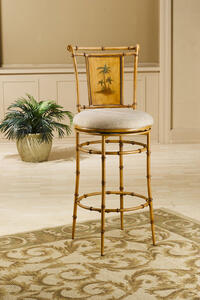 West Palm Swivel Counter Stool (Burnished Brown Finish) - [4330-824]