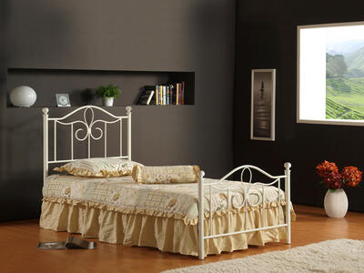 Westfield Metal Bed (Off White Finish)