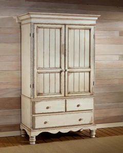 Wilshire Armoire (Antique White Finish)