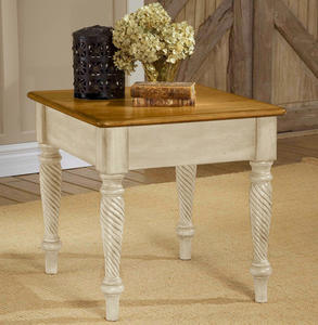Wilshire End Table (Antique White Finish) - [4508-882]