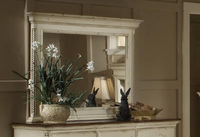 Wilshire Mirror (Antique White Finish) - [1172-721]